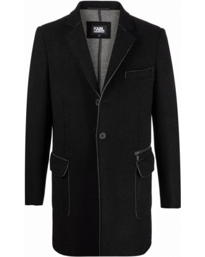 Шерстяное полупальто - черное Karl Lagerfeld