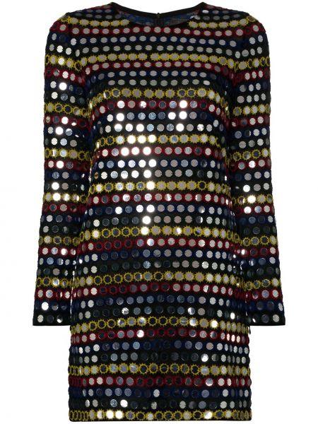 Приталенное платье мини с пайетками с длинными рукавами с вырезом Ashish