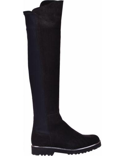 Кожаные ботфорты - черные Pertini