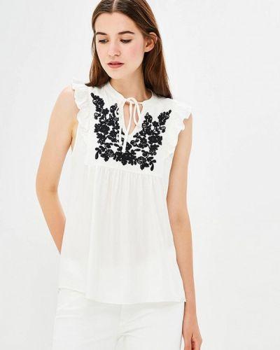 Блузка с рюшами белая Q/s Designed By