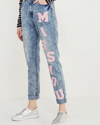 Голубые джинсы бойфренды Noisy May