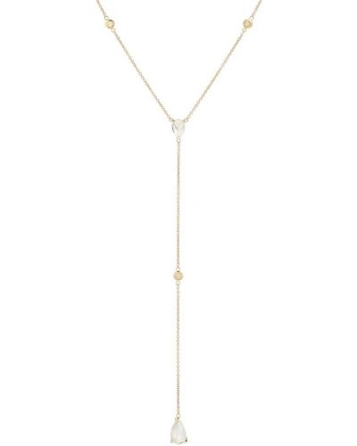 С ромбами желтое ожерелье с бриллиантом Jacquie Aiche