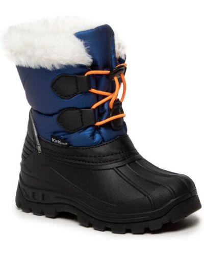Czarne śniegowce Kickers