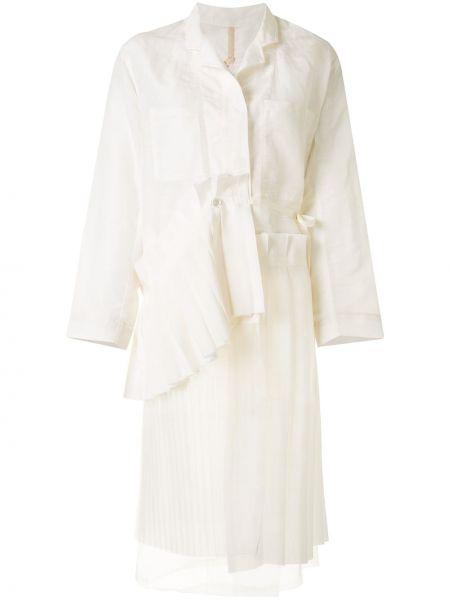 Długi płaszcz asymetryczny z kieszeniami Shanshan Ruan