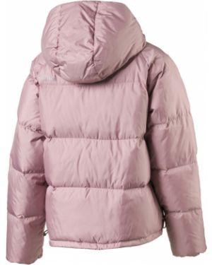 Водонепроницаемая розовая куртка с капюшоном с перьями Puma