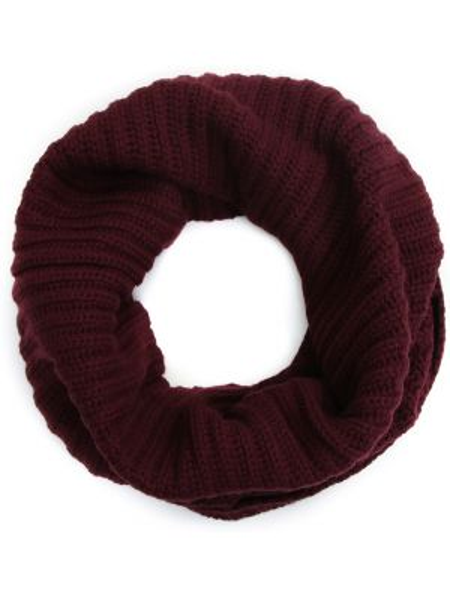 Кашемировый бордовый шарф Malo