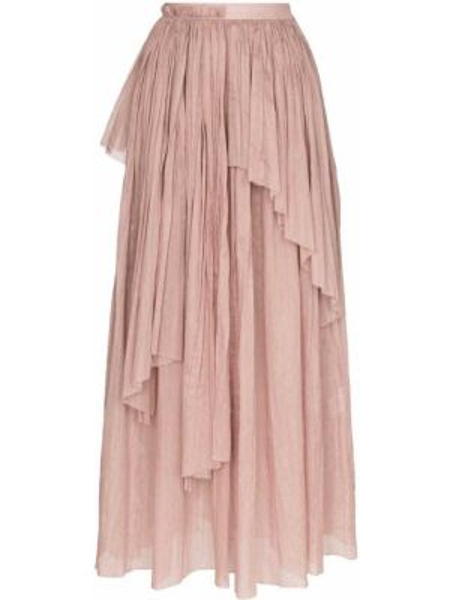 Хлопковая розовая юбка Vika Gazinskaya