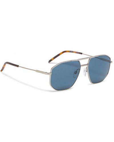 Okulary srebrne Tommy Hilfiger