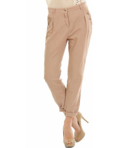 Коричневые брюки хлопковые Patrizia Pepe