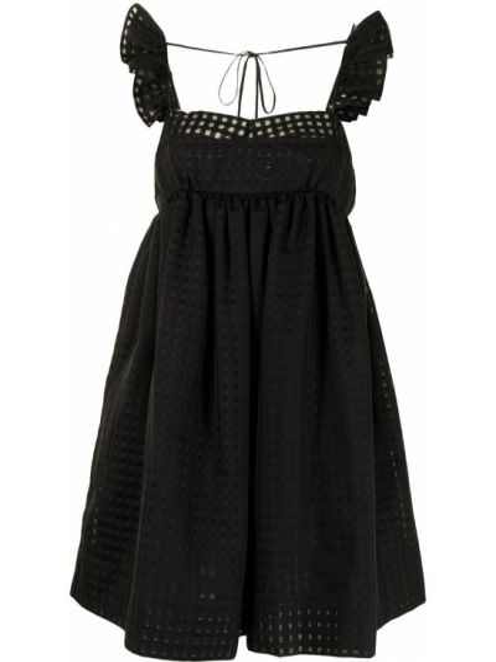 Czarna sukienka bawełniana bez rękawów Pushbutton
