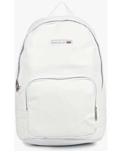 Рюкзак белый из искусственной кожи Reebok Classics