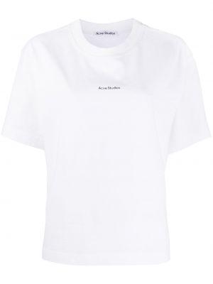 Прямая с рукавами белая футболка Acne Studios