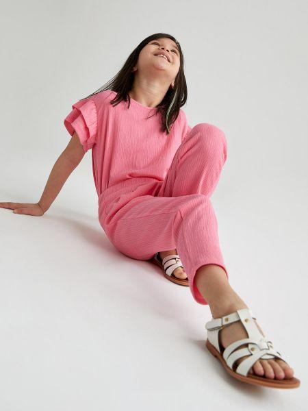 Розовая блузка с короткими рукавами Defacto