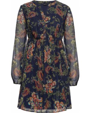 Платье шифоновое на резинке Bonprix