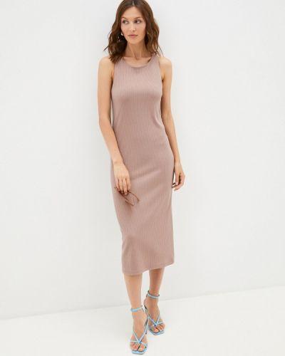 Коричневое весеннее платье Trendyangel
