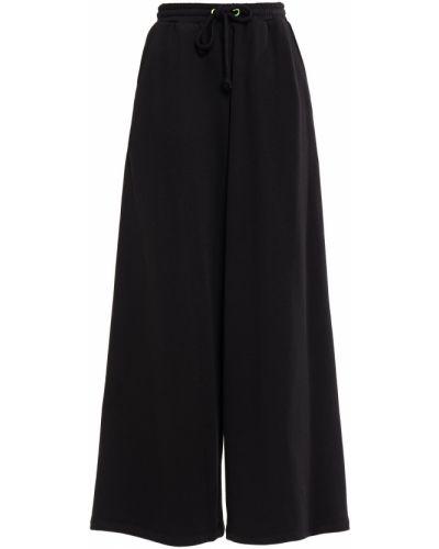 Czarne spodnie w paski bawełniane Sjyp