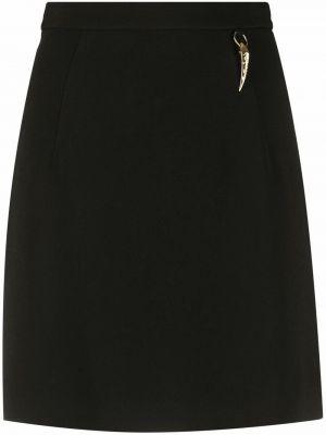 Юбка миди с завышенной талией - черная Roberto Cavalli
