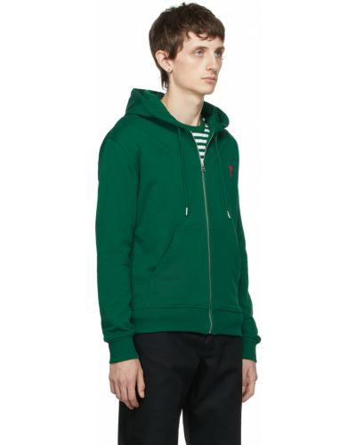 Bluza z kołnierzem - zielona Ami Alexandre Mattiussi