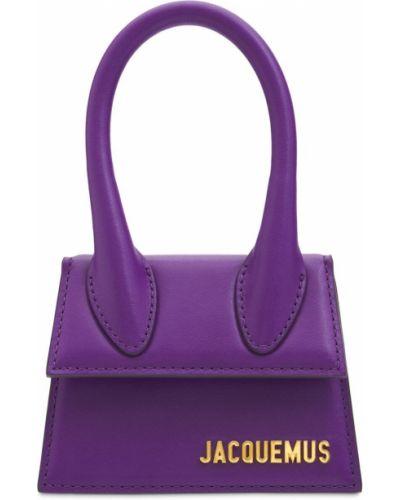 Фиолетовая кожаная сумка Jacquemus