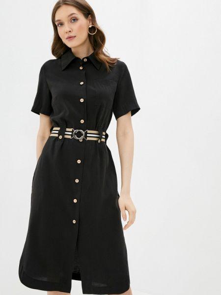 Платье прямое черное Aelite