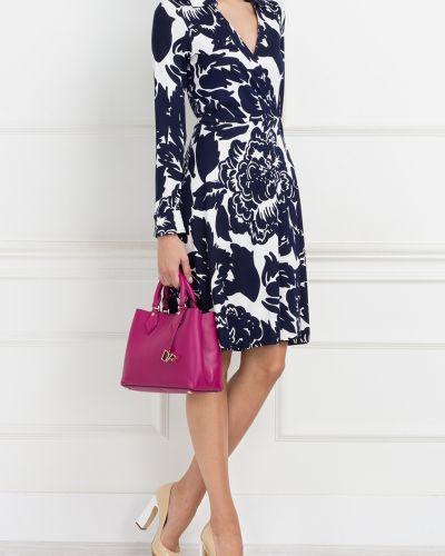 Платье с поясом с запахом с цветочным принтом Diane Von Furstenberg