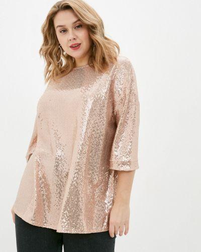 С рукавами розовая блузка Evans