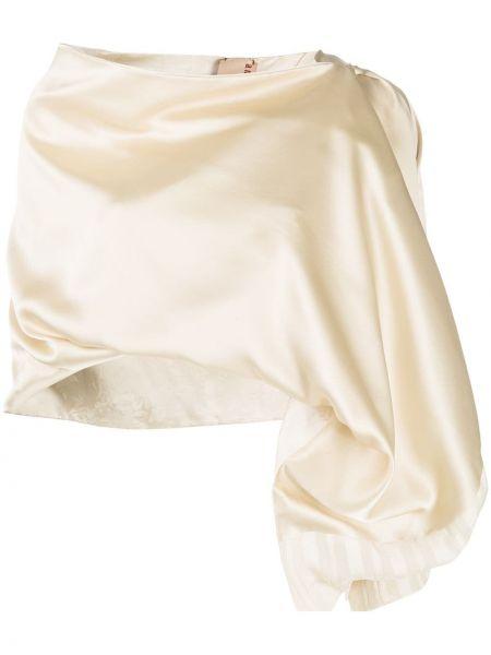 Бежевая шелковая шаль с драпировкой Antonio Marras