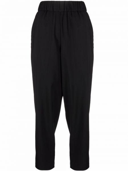 Czarne spodnie wełniane Barena