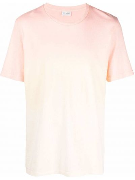 T-shirt bawełniany krótki rękaw z printem Saint Laurent