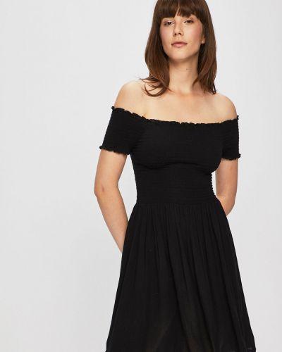Платье с открытыми плечами - черное Review