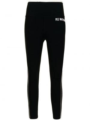 Спортивные брюки с завышенной талией - черные P.e Nation