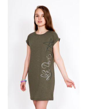 Платье миди свободного кроя с рукавами Lika Dress