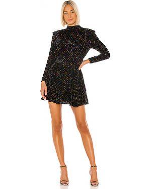 Платье с пайетками с вышивкой Retrofete