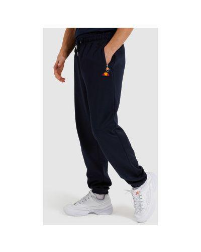 Синие хлопковые брюки Ellesse