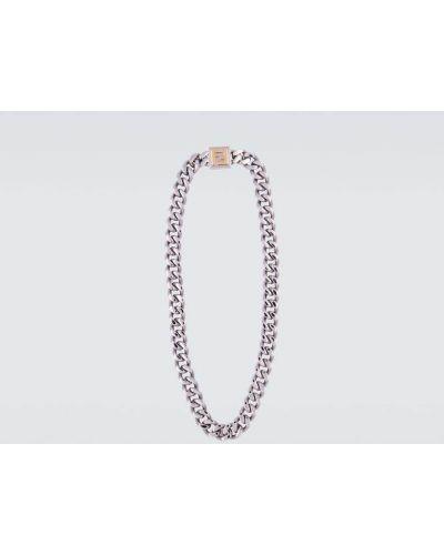 С орнаментом ожерелье золотое металлическое Fendi