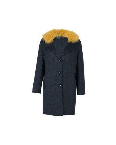 Серое пальто осеннее Luisa Spagnoli