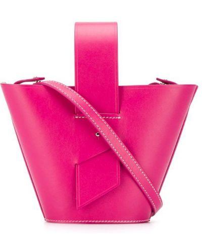 Розовая сумка на плечо Carolina Santo Domingo
