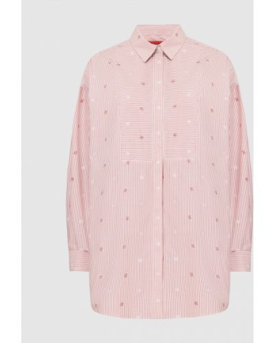 Рубашка в полоску - красная Max & Co