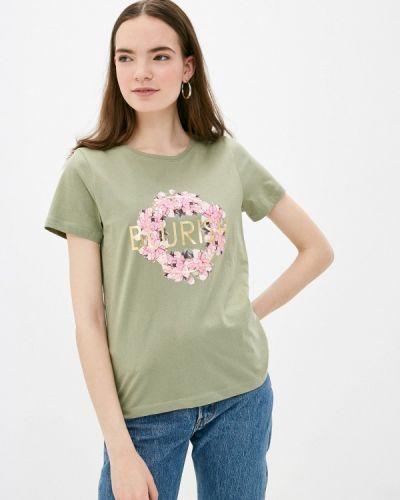 Зеленая футболка с короткими рукавами B.young