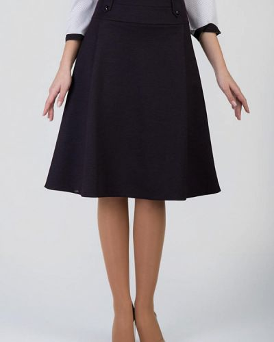 Фиолетовая юбка свободного кроя Das