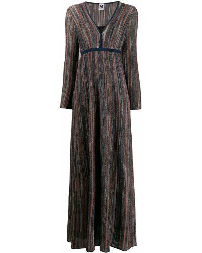 Платье макси в полоску с завышенной талией M Missoni