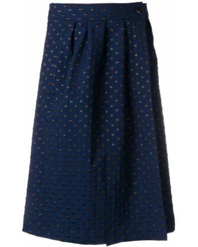 Синяя юбка миди Essentiel Antwerp
