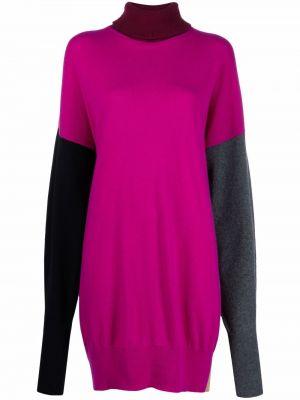 Шерстяное платье макси - розовое Marni