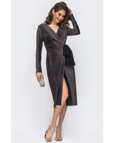 Платье с завязками - черное Modniy Oazis