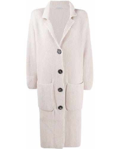 Кашемировое пальто классическое на пуговицах с лацканами Malo