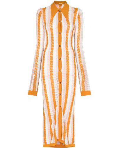 Платье миди на пуговицах - оранжевое Dodo Bar Or