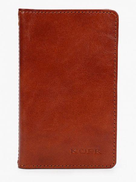 Коричневый кошелек из натуральной кожи Kofr