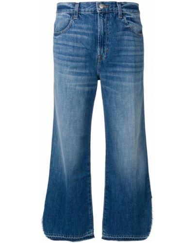 Широкие джинсы синие на пуговицах J Brand
