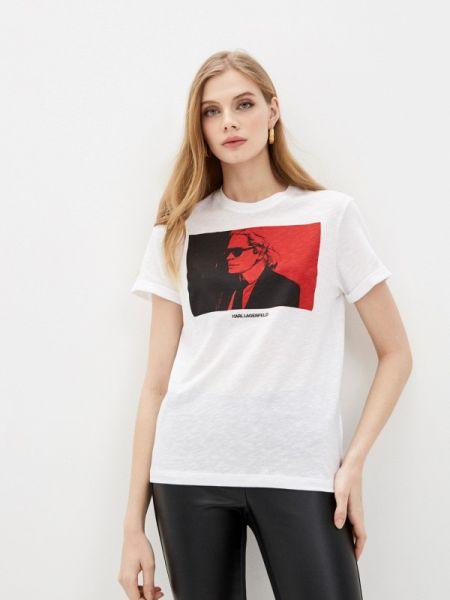 Поло белое футбольный Karl Lagerfeld