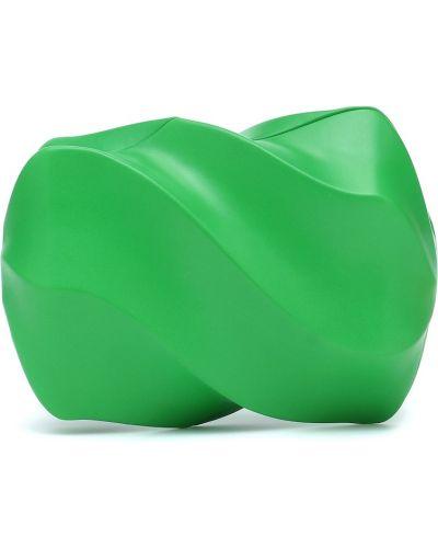 Zielona kopertówka skórzana Bottega Veneta